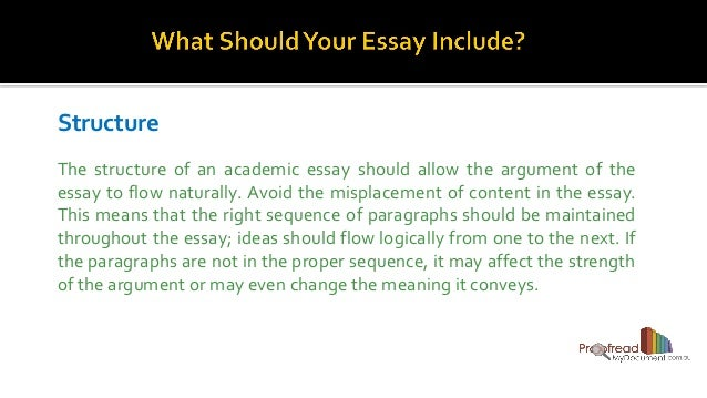 how to frame your academic essay  6 structure the structure of an academic essay should allow the argument