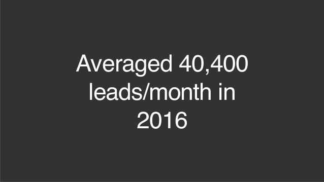 Two Inbound Engines that Drive 30K+ Leads Per Month Slide 3