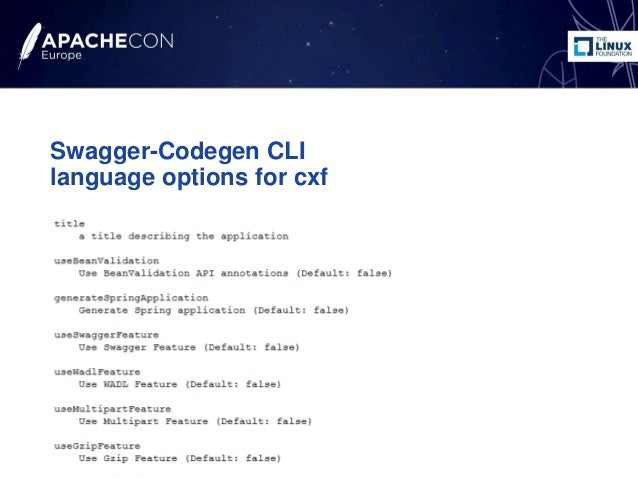 How to generate a REST CXF3 application from Swagger