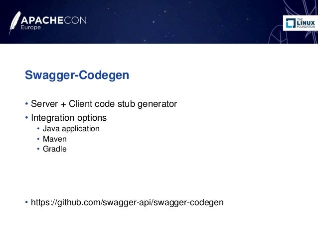 How to generate a REST CXF3 application from Swagger ApacheConEU 2016
