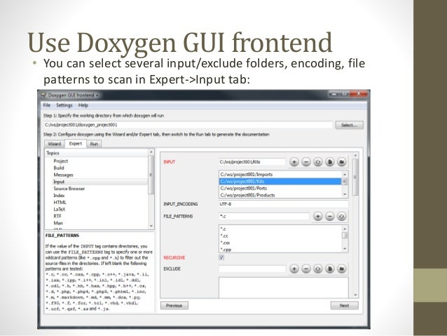How to generate doxygen documents