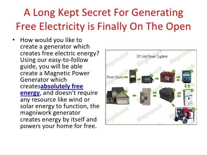 A Long Kept Secret For Generating Free Electricity is Finally On The Open<br />How would you like to create a generator wh...