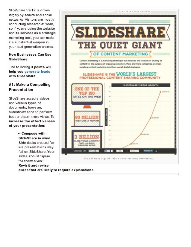 How to Generate Leads with SlideShare Slide 3