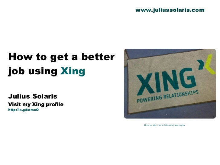How to get a better job using Xing