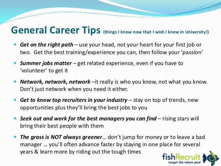 U003cbr /u003e; 8. General Career Tips ...