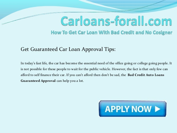 how to get approved for a loan with bad credit