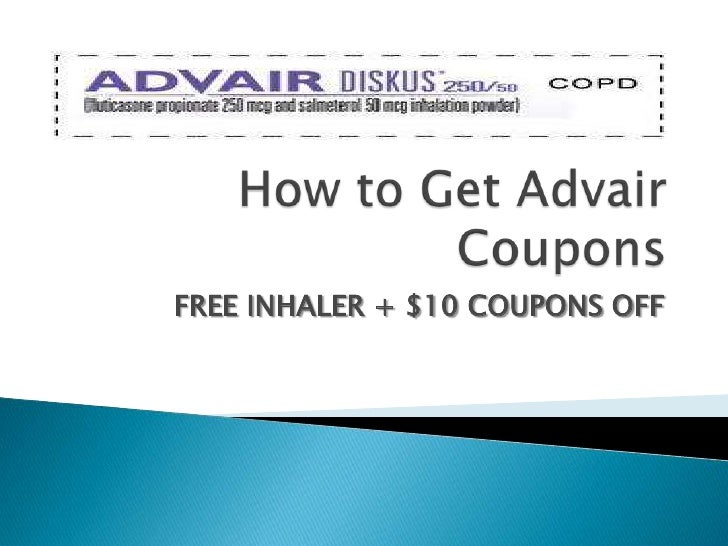 How To Get Advair Coupons