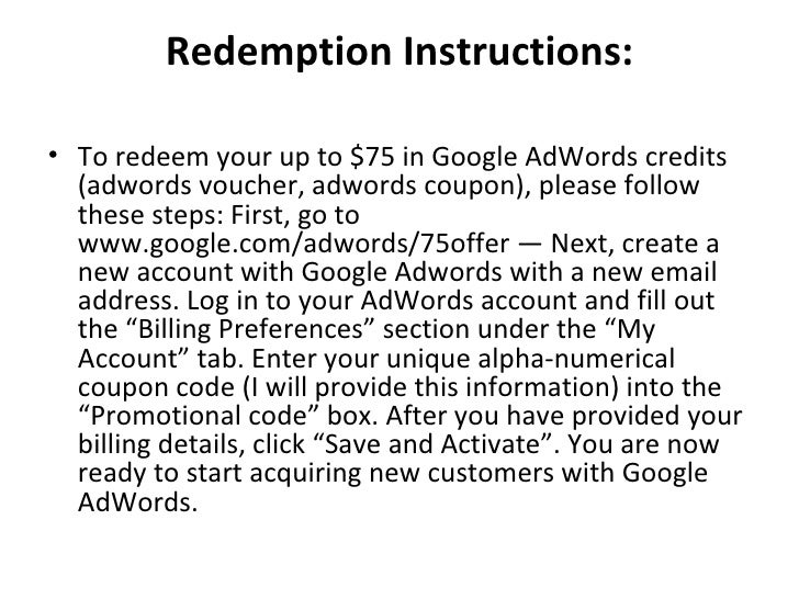 how to add a coupon to google adwords