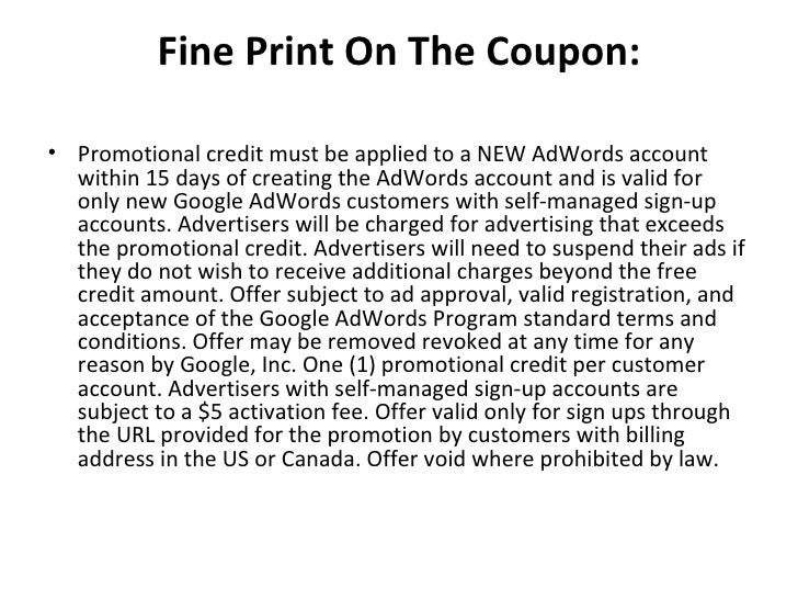 How to get a free google adwords coupon for Coupons for factory direct craft