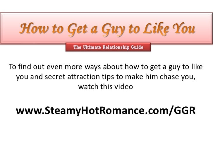How to find a guy