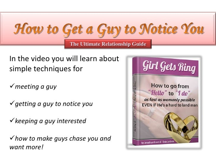 How To Get A Guy Interested