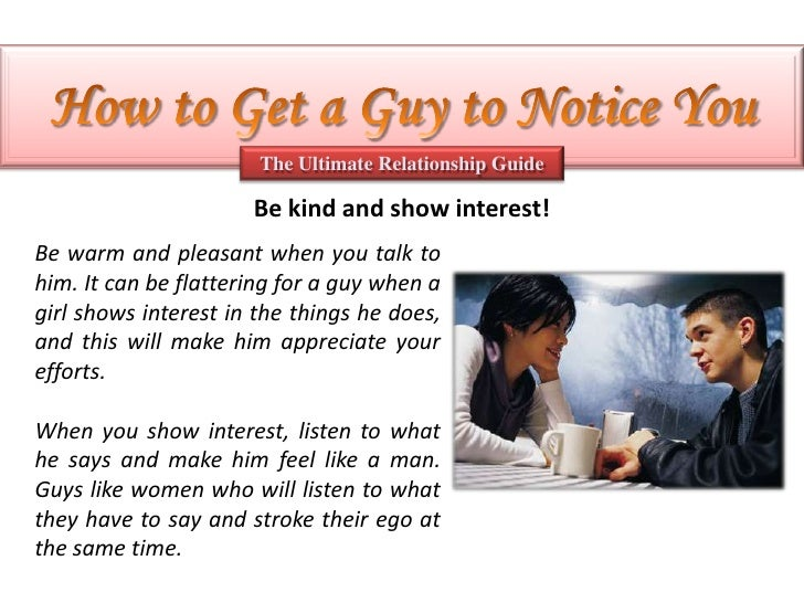 How to get a guy to talk