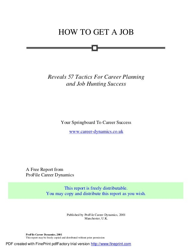 How To Get A Job 57 Tactics