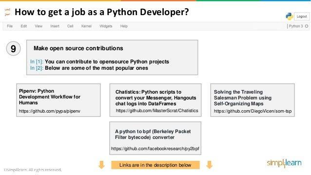 How To Get A Job As A Python Developer - 2019 | How To Get A