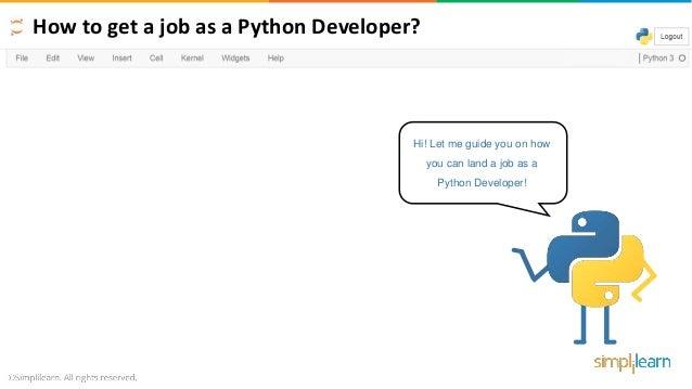 How To Get A Job As A Python Developer - 2019   How To Get A Job As A…