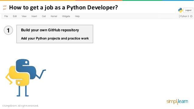 How To Get A Job As A Python Developer - 2019 | How To Get A Job As A…