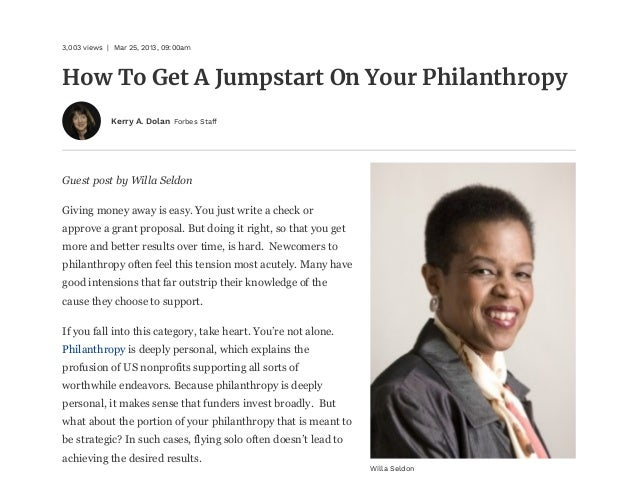 How to get a jumpstart on your philanthropy