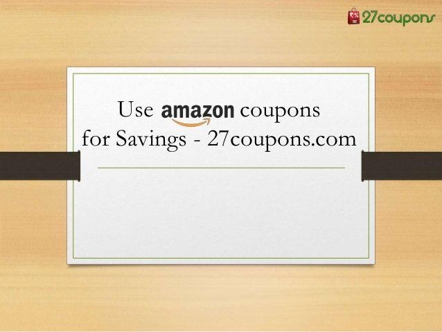 27 coupons amazon