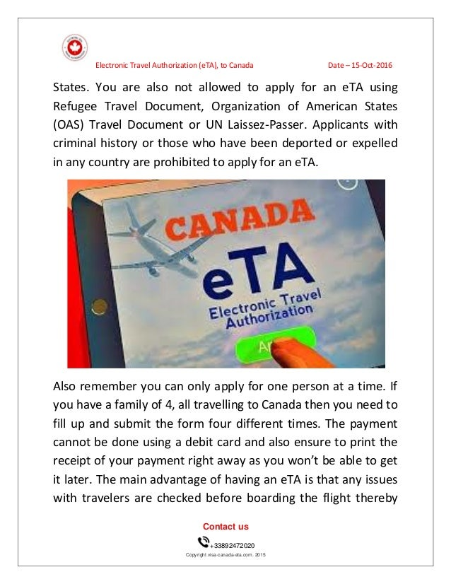 How To Get An Eta For Visit To Canada