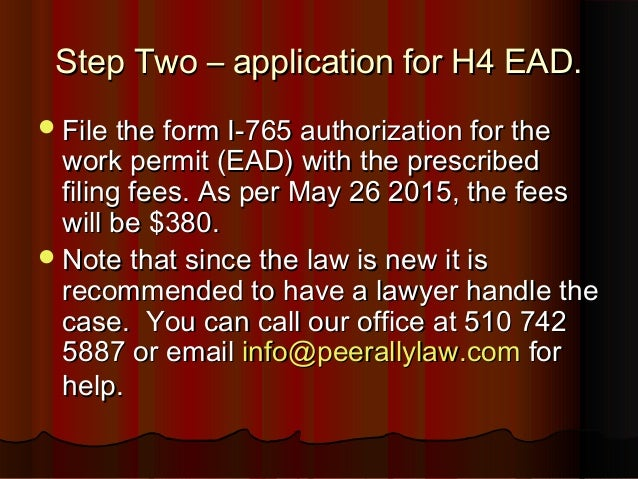 How to get an h4 ead or an H4 Work Permit?