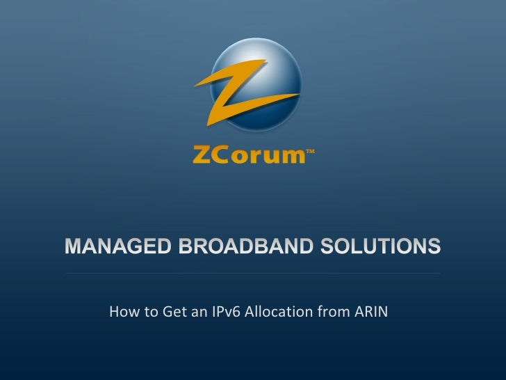 How to Get an IPv6 Allocation from ARIN