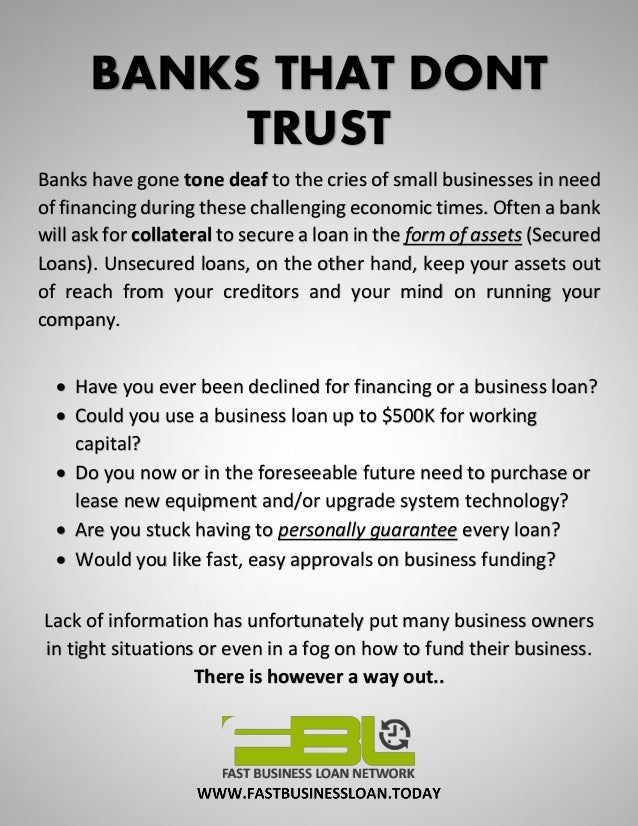 How To Get A Business Loan >> How To Get An Unsecured Small Business Loan Fast