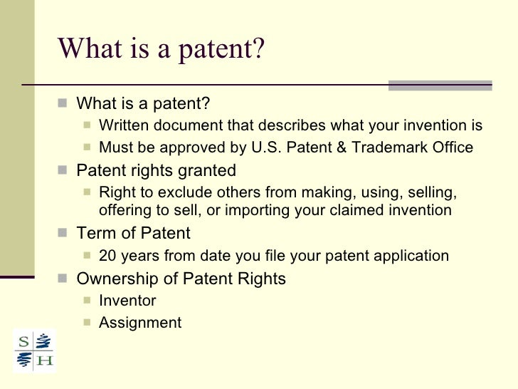 3 What Is A Patent