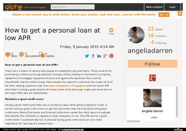 how to get personal loan in usa