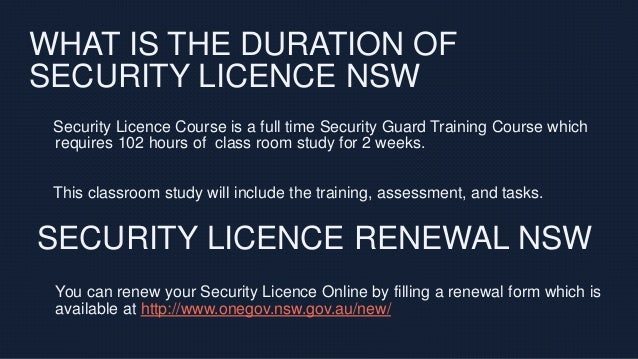 how to get a security licence