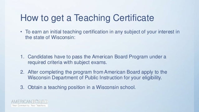 Teacher Certification in Wisconsin