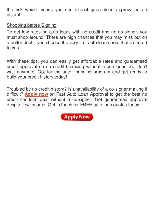 How to get an auto loan with no credit or cosigner