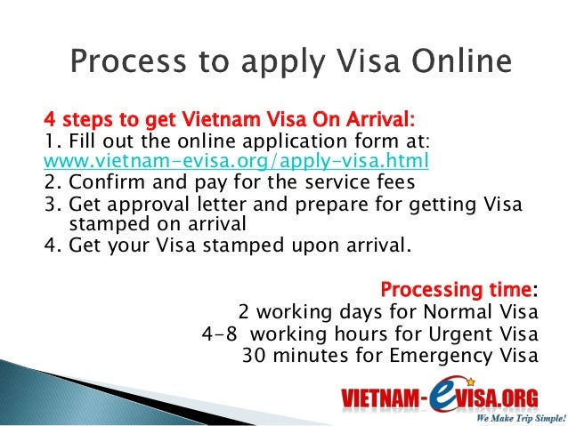 Upon arrival to Vietnam International Airports,  you present:   Passport   Visa approval letter   2 passport sized phot...