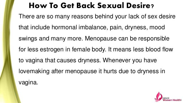 how to get sexual desire back