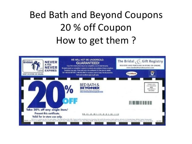 Get Bed Bath And Beyond Coupon