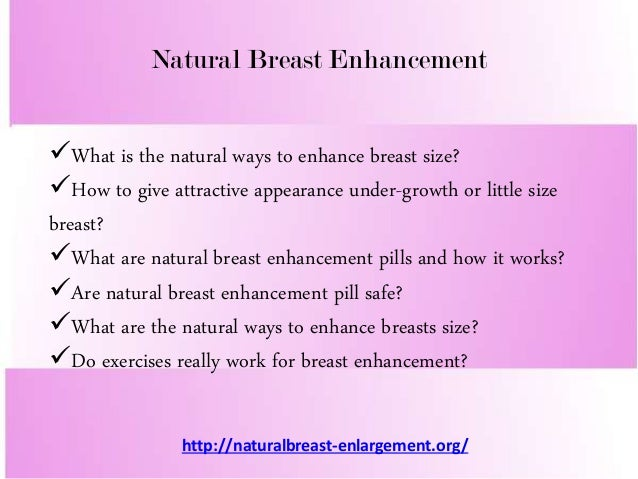 Natural ways for breast growth