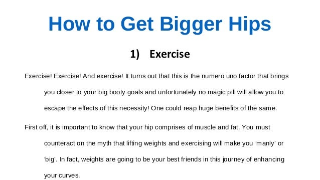 How to Get Bigger Hips