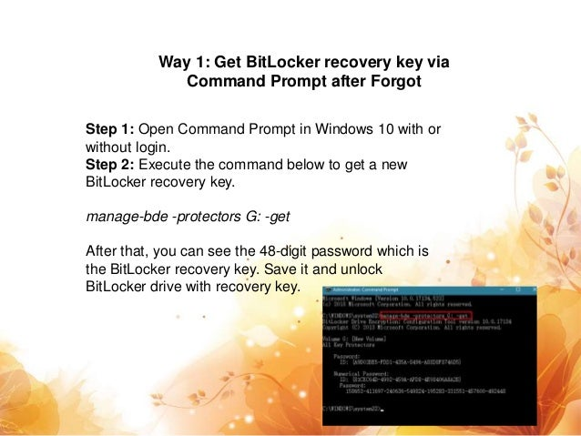 How to Get BitLocker Recovery Key