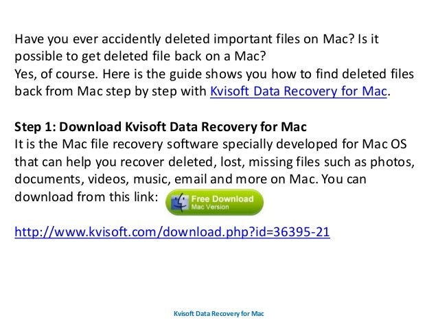 how to take back deleted files