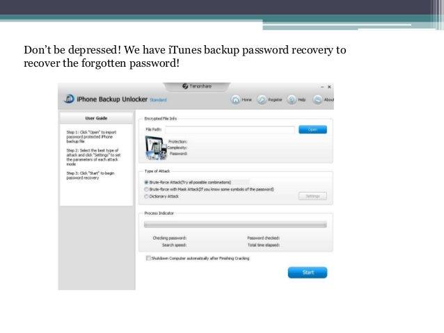 Forgot Encrypt Iphone Backup Password