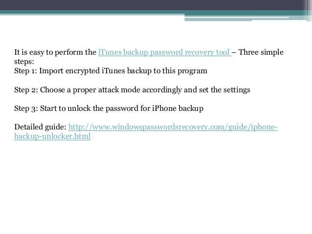 Enter The Password To Unlock Your Iphone Backup Never Set