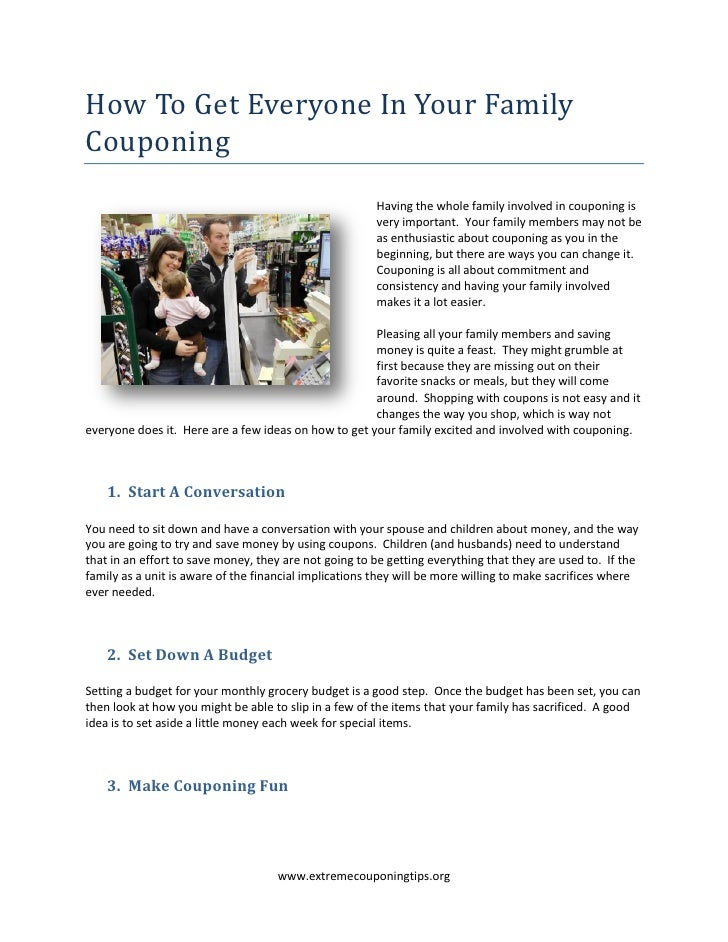 How To Get Everyone In Your FamilyCouponing                                                       Having the whole family ...