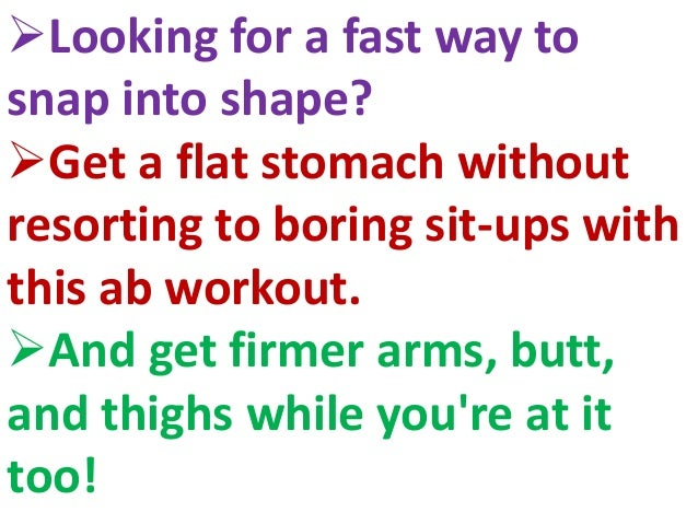 Get A Flat Belly In 10 Minutes 2