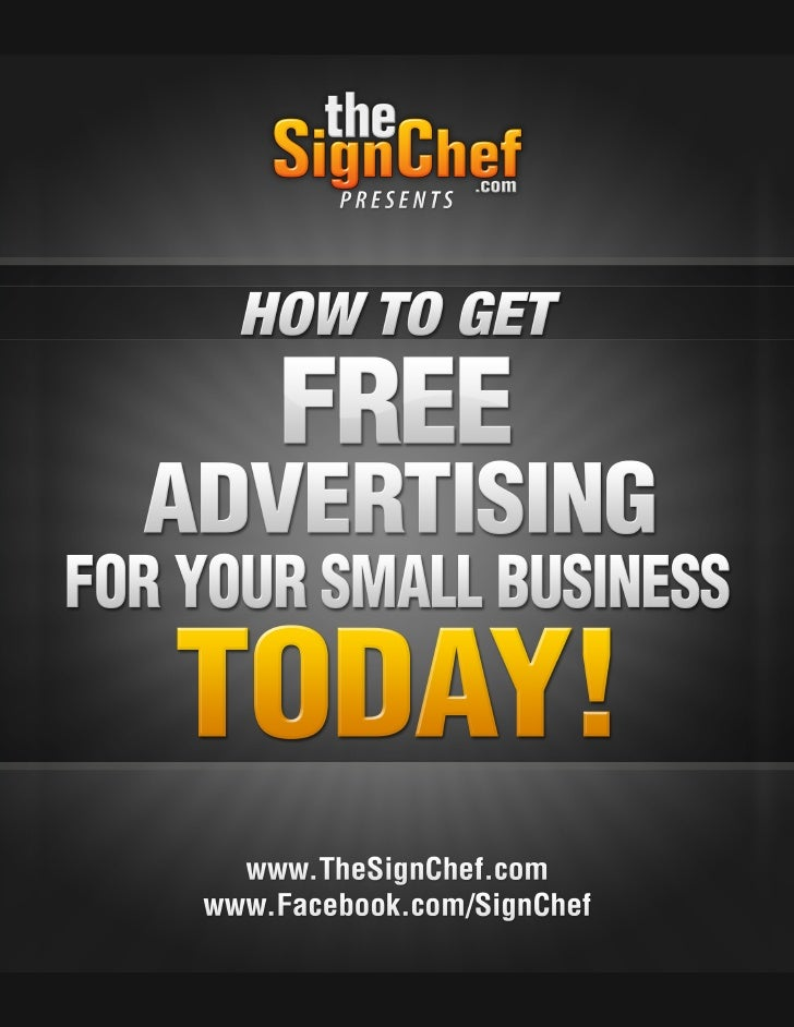 How To Get Free Advertising For Your Small Business!                                             Table Of ContentsLegal Di...