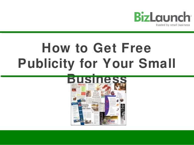 How to Get FreePublicity for Your SmallBusiness