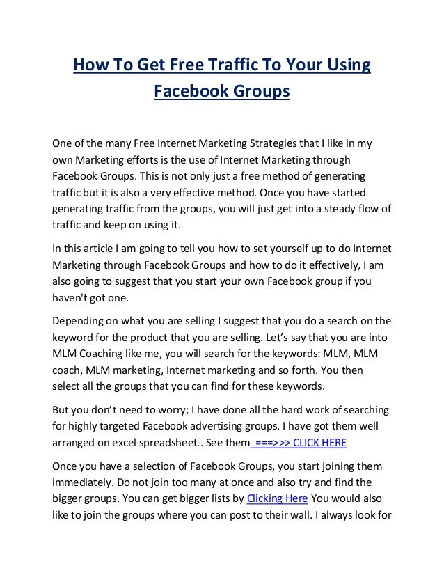 How to get_free_traffic_to_your_using_facebook_groups