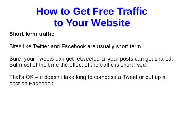 How To Get Traffic To A Hookup Website