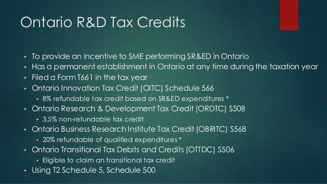 research and development tax incentive schedule instructions