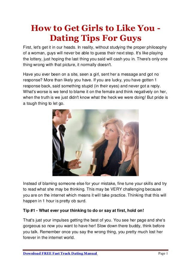Dating tips from guys for girls