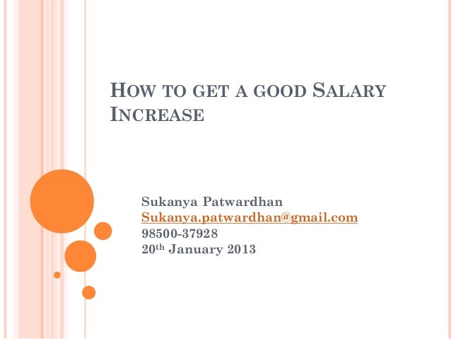 how to get good salary increase
