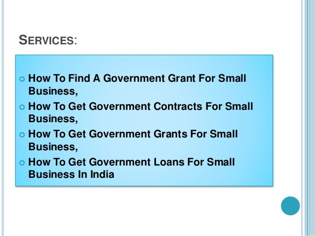 how to get government grants to start a small business